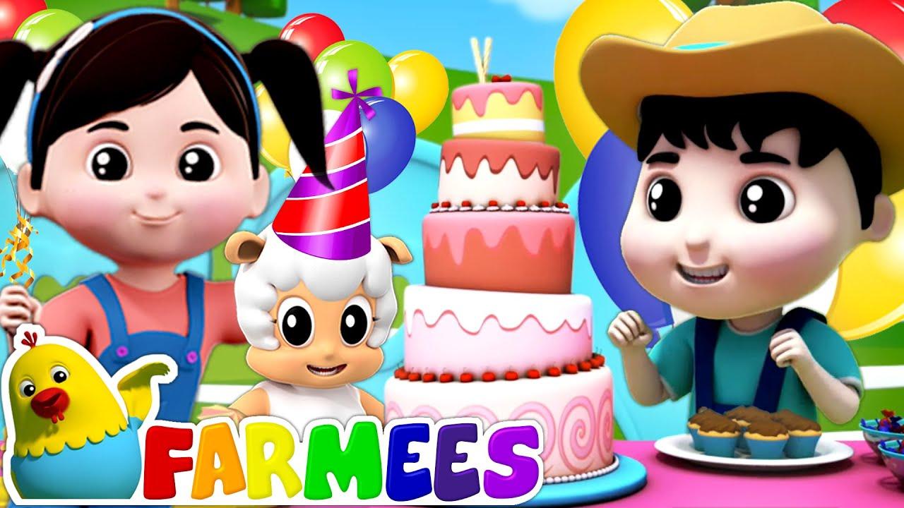Happy Birthday Song | Birthday Party Song | Kids Songs & Nursery Rhymes | Animal Cartoon | Farmees
