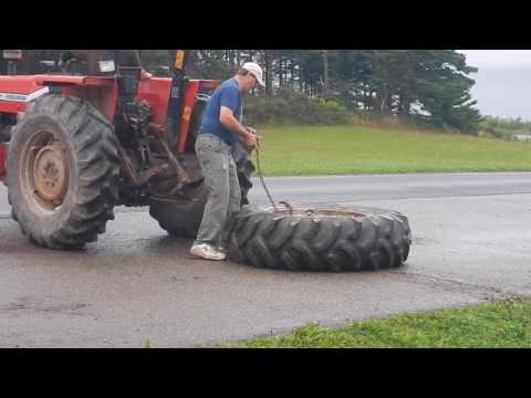 Tractor Tire Flat Repair Part 1