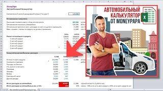 Калькулятор Вартості та Витрат Автомобіля + Калькулятор Автокредиту - 2 в 1! Відео-інструкція.