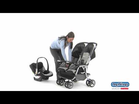 2011 Double Stroller - Peg Perego Aria Twin 60/40 - How to Make Travel System Compatible