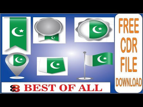 Pakistan Flag Badges/ Vector Logo l Free CDR File 2019 l by Best Of All