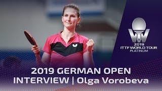 Интервью Ольги Воробьевой о матче с румынкой Б.Сёч на German Open