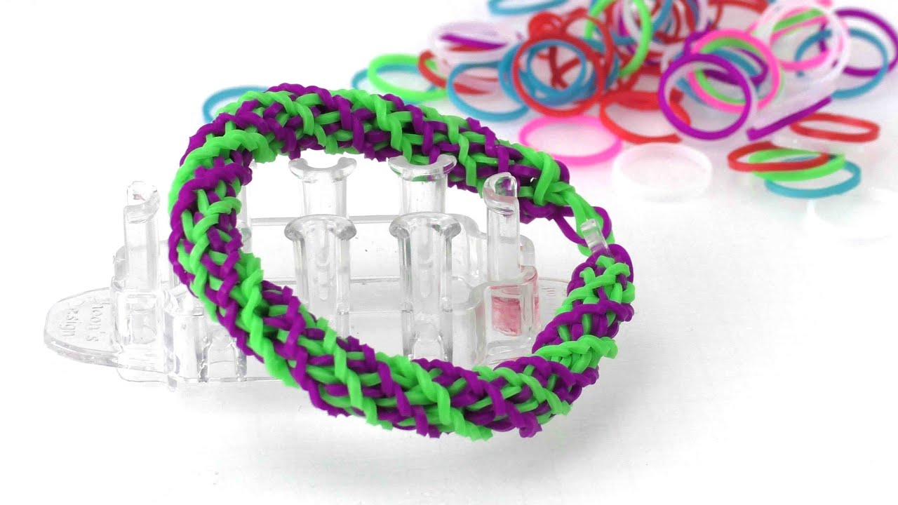 loom armband gedrehtes doppel cross diy anleitung bracelet armband ganz einfach selber. Black Bedroom Furniture Sets. Home Design Ideas