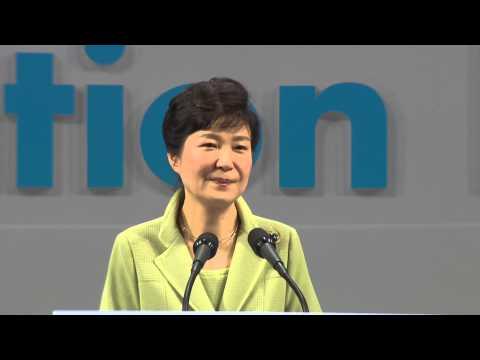 President of Korea Park Geun-hye speaks at the World Education Forum 2015