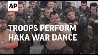 BOSNIA: DEPARTING NEW ZEALAND TROOPS PERFORM HAKA WAR DANCE