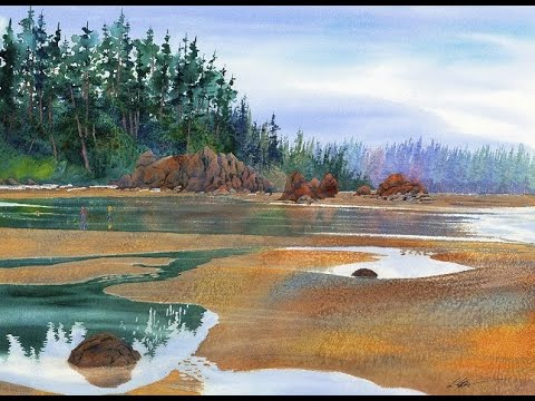 Watercolor Quest: Ruby Beach