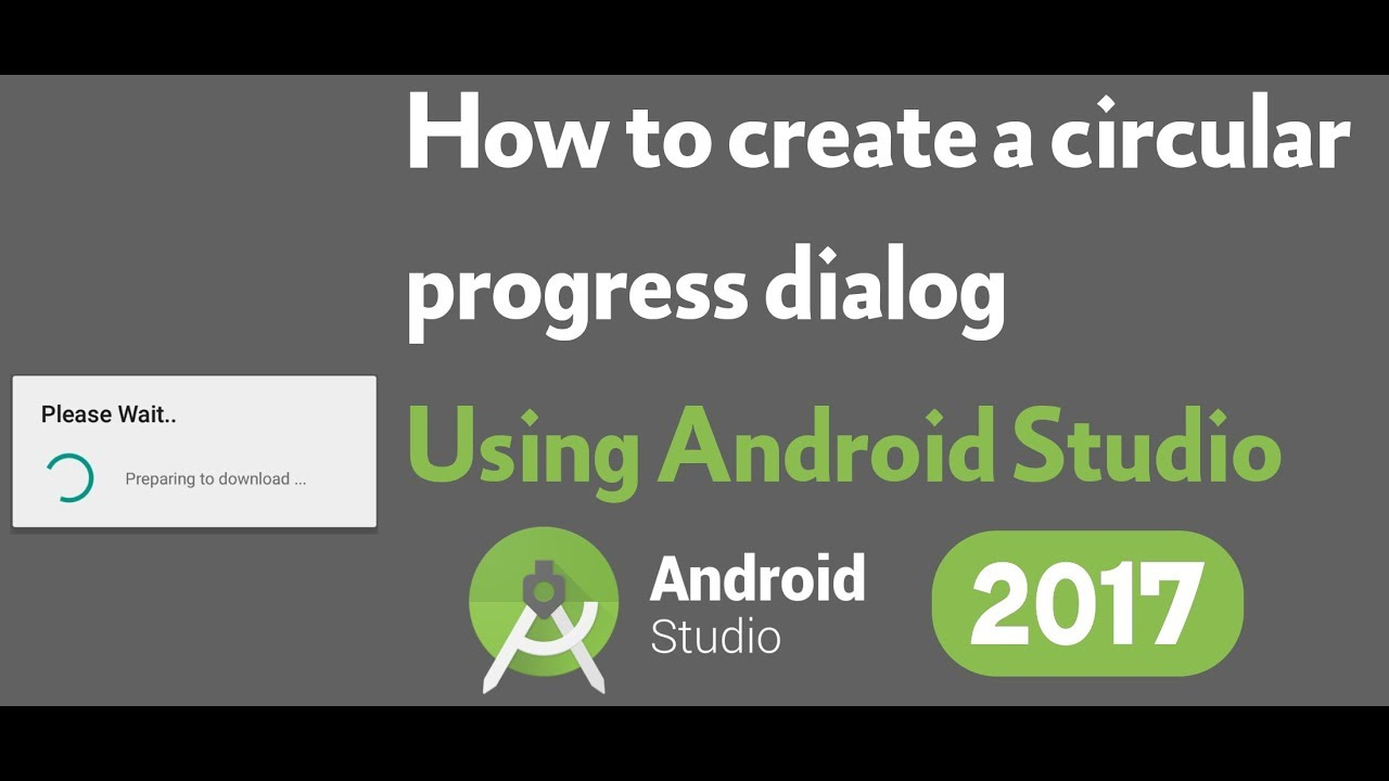 How to create a circular progress dialog on android studio