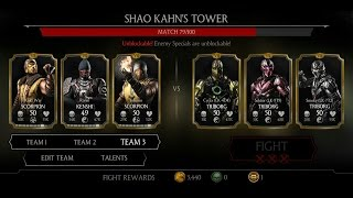 Mortal Kombat X Android Shao Kahn's Tower Fight 70 - 78