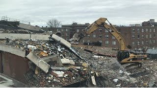 Demolition of Buffalo State Science Building South Wing