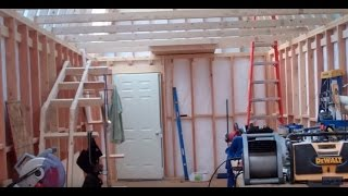 Project 'mega Shed' Part 8: Plywood Siding, Doors & Window Installed