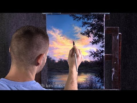 Sunset on the lake | Paint with Kevin ®