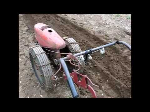 2017 Garden Plowing with the David Bradley Tractor and the Troy Bilt Horse Tiller