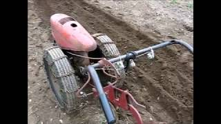 2017 Garden Plowing with the David Bradley Tractor and the Troy Bilt Horse Tiller YouTube Videos