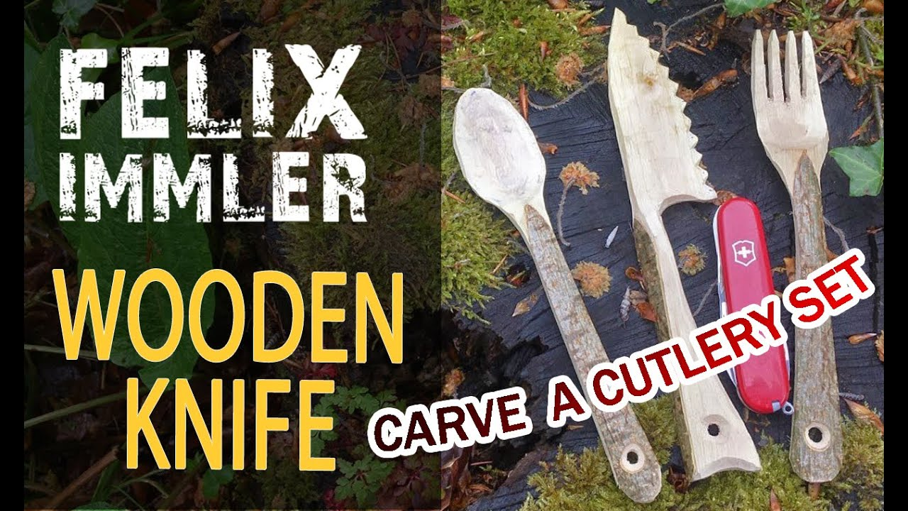 How to carve a wooden knife - Make your own cutlery set (1/3) - Victorinox Swiss Army Knife project