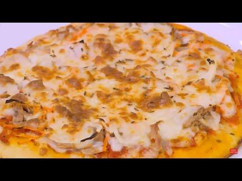 بيتزا بالتونة والخضار |  نجلاء الشرشابي