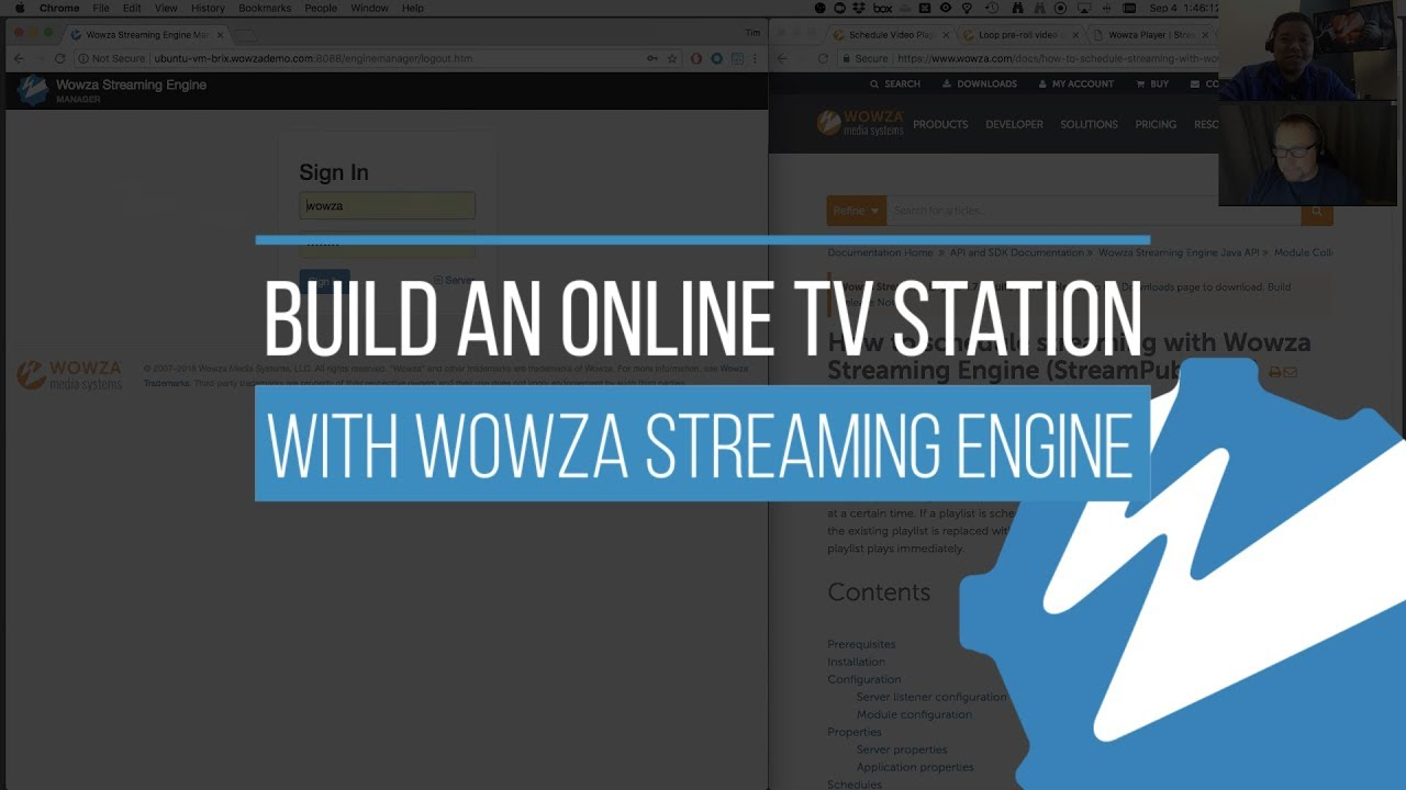 build an online tv station with wowza streaming engine youtube