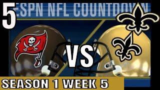 ESPN NFL 2K5 Saints Franchise Ep5 vs Buccaneers   Cpu vs Cpu