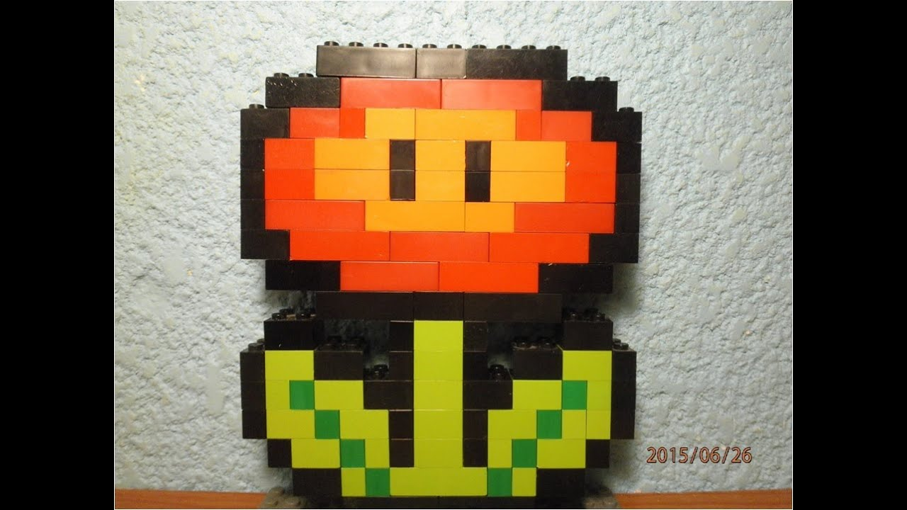How To Build A Flower Of Mario In Lego In Stop Motion Youtube