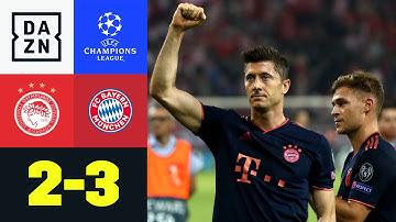 Immer wieder Lewy & Sahne-Tor von Tolisso: Olympiakos - Bayern 2:3 | UEFA Champions League | DAZN