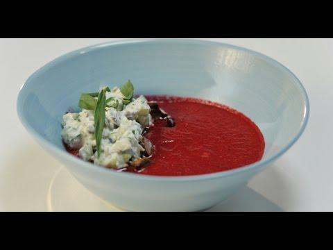 Свекольный суп с бараньим сердцем и кремом из рикотты | Субпродукты