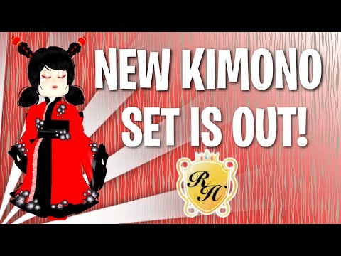 Kimono Set Cherry Blossom Skirt Bodice Sleeves Royale High
