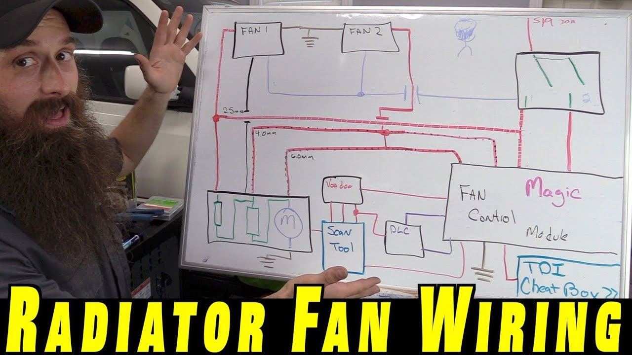 Automotive Electric Fan Wiring Diagram Kenwood Excelon Ddx8017 Understanding How To Wire Cooling Fans Youtube