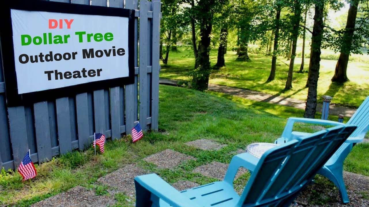 Dollar Tree Diy Outdoor Movie Theater Projection Screen 2018 Youtube