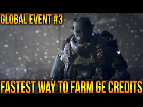 THE DIVISION 1.8 - FASTEST WAY TO FARM GE CREDITS - GLOBAL EVENT 3 | HOW DO YOU BUY GE CACHES