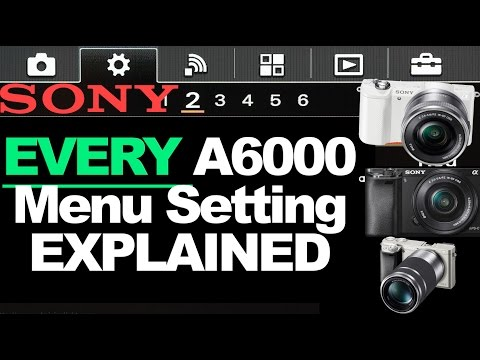 Sony A6000 _ MENU ITEMS EXPLAINED _IN DETAIL | Run through of all menus settings