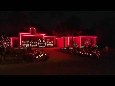 2017 Halloween Light Show Din Daa Daa  George Kranz