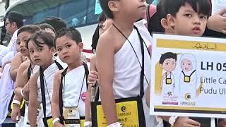马来西亚穆斯林儿童赴麦加参加朝觐练习
