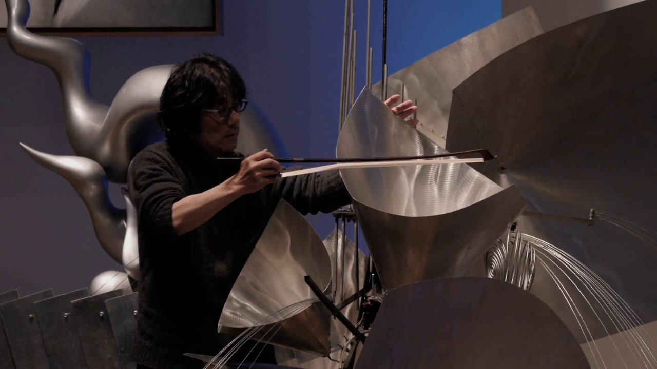 Baschet Sound Sculpture Performance:「Ensemble Sonora」Jyoji Sawada Ryo Watanabe + Sachiko Nagata
