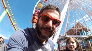 The most nauseating rollercoaster ever!!! Santa Monica Pier (California)