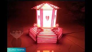 Cara Membuat Lampu tidur dari Stik Es Krim