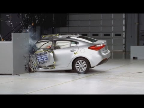 Terrifying car crashes: New crash test revealed by Insurance Institute for Highway Safety