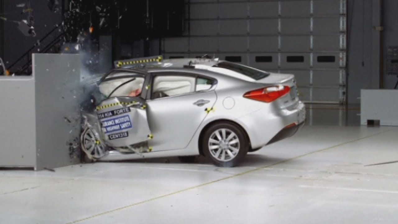 terrifying car crashes new crash test revealed by insurance institute for highway safety youtube