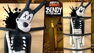 - GUTTED DEAD BORIS TUTORIAL  Bendy and the ink machine  Polymer clay Porcelana Fria