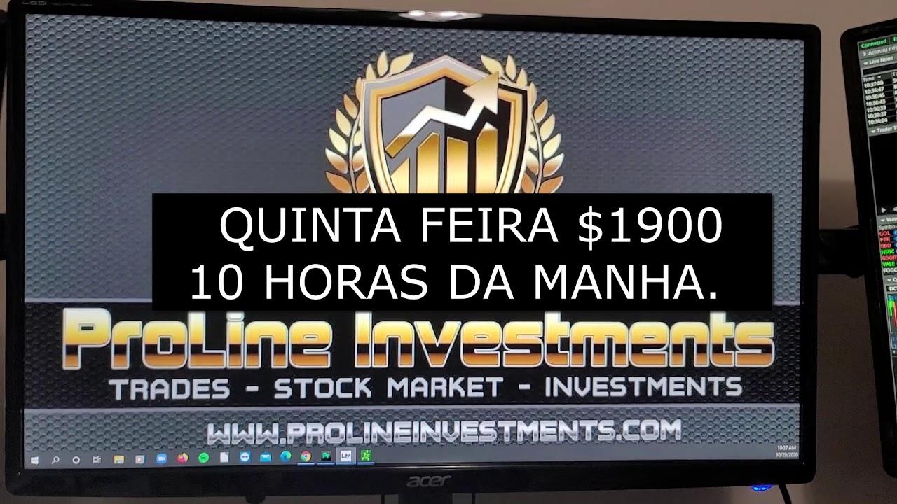 $1900 NESSA QUINTA-FEIRA, COM 3 HORAS OPERANDO NA BOLSA.