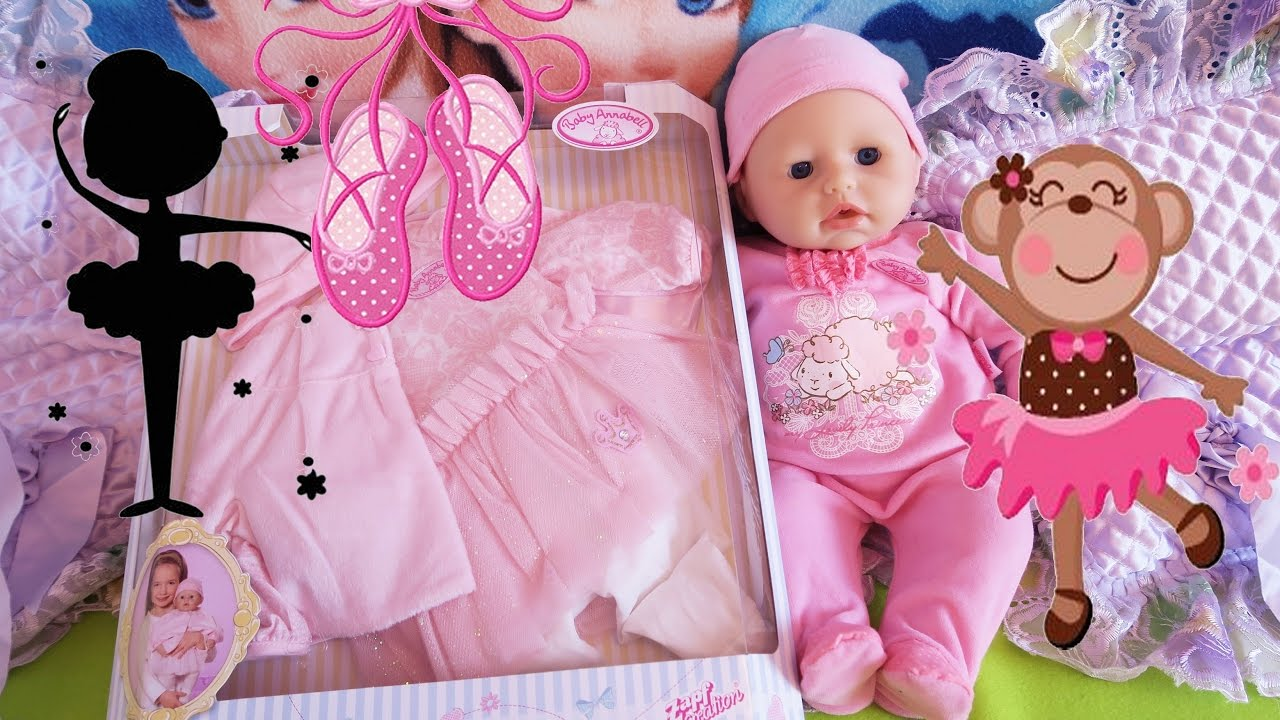 86ea7d40f740d0 Zapf Creation Baby Annabell - Deluxe Baby Ballerina party dress Clothing Set  Puppenkleidung Outfit