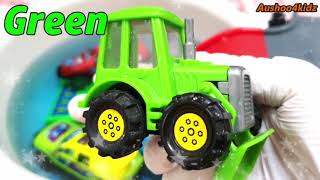 Learn Colours With Cars for Toddlers Kids Children Water Slide / الالوان بالأنجليزيه مع السيارات