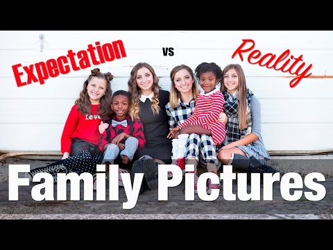 Expectation vs Reality: Family Pictures | Twins Brooklyn & Bailey