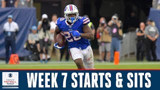 Week 7 FANTASY FOOTBALL STARTS and SITS | Full Episode | Fantasy Football Today