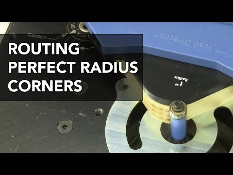 Routing Curved Corners with a Jig