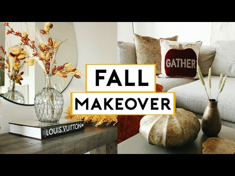 FALL APARTMENT MAKEOVER 2019 + CHEAP & EASY DIY FALL ROOM DECOR   Nastazsa