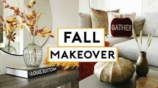 FALL APARTMENT MAKEOVER 2019 + CHEAP & EASY DIY FALL ROOM DECOR | Nastazsa