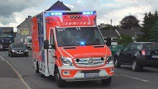 Hier zu sehen ist die neue rettungswagen generation des rettungsdienstes oberbergischer kreis. stationiert sind fahrzeuge u.a. in engelskirchen,lindlar,w...