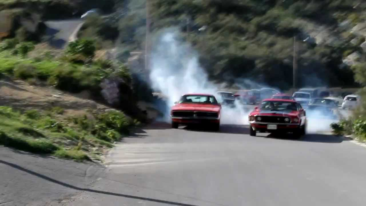 Malta american auto club ford mustang mach 1 vs 1969 dodge charger