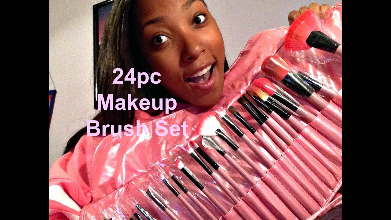 Affordable 24 piece Makeup Brush set - YouTube