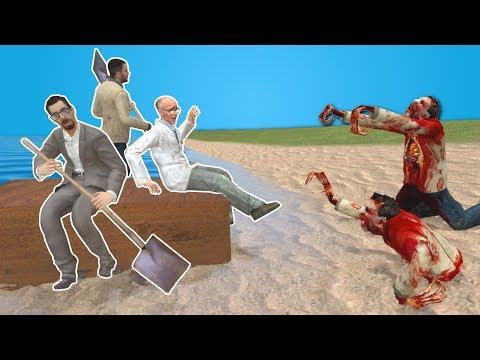 BUILDING A BOAT TO ESCAPE ZOMBIES? - Garry's Mod Gameplay - Gmod Zombie Apocalypse Survival
