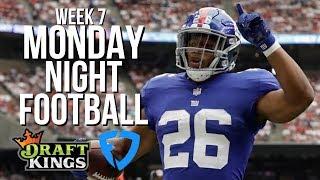 NFL WEEK 7 MONDAY NIGHT FOOTBALL DRAFTKINGS AND FANDUEL LINEUPS AND PICKS